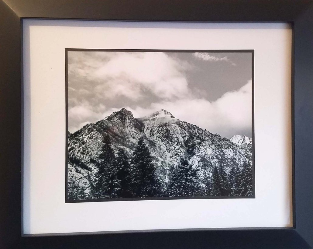 Sleeping Lady in White - 8x10 print, double matte, black frame - $100