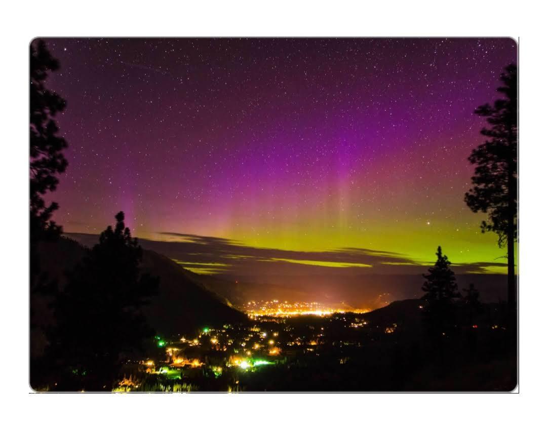 4x5.5 magnet, Aurora over Leavenworth - $5