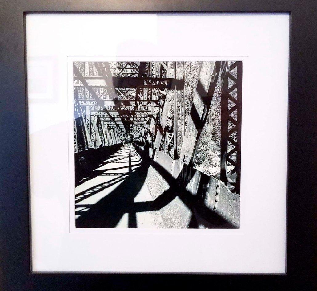 Bridge Shadows, 8x10 print, white matte, black frame - $100