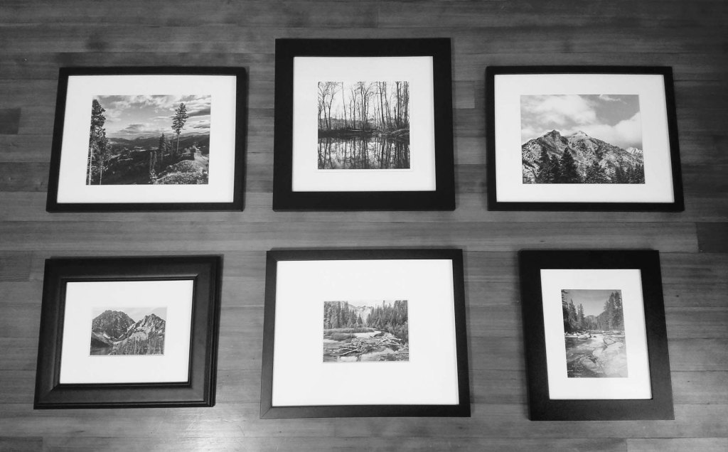 black and white photo collection