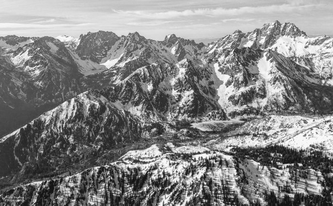 Cascade Mountains BW - winter 2017