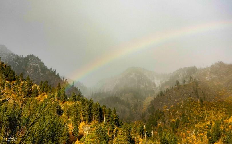 Rainbow in Tumwater Canyon - 2019