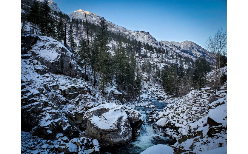 Icicle Creek winter morning-Nov 2019
