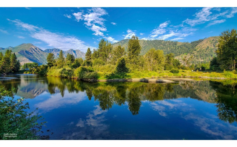 Icicle River reflections pano - 2019