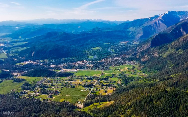 July - Leavenworth from Above