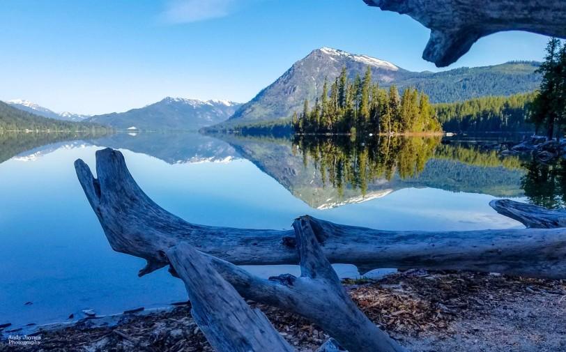 Lake Wenatchee Driftwood Reflections-2 - 2019