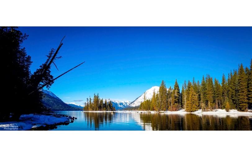 Lake Wenatchee Winter Reflections Pano - 2019