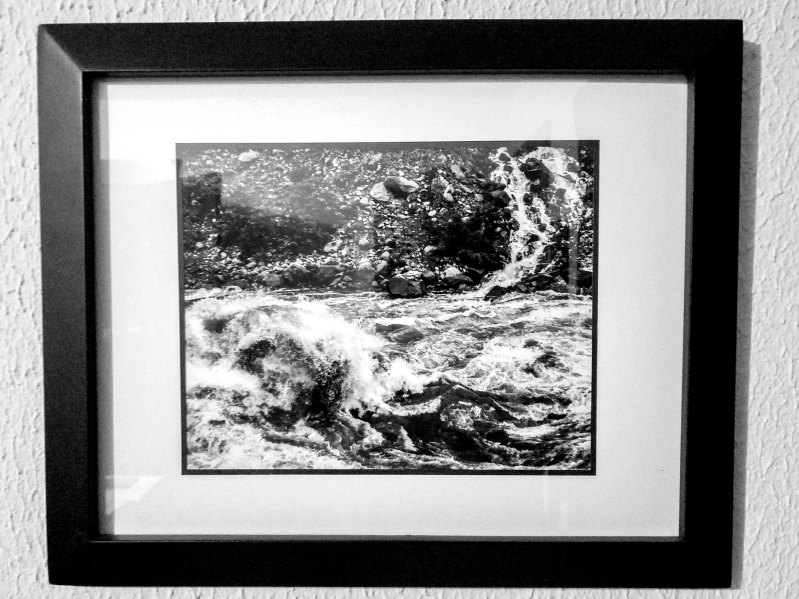 Wenatchee Fury, black & white, 8x10 print, double matte, black frame - 2016 - $100