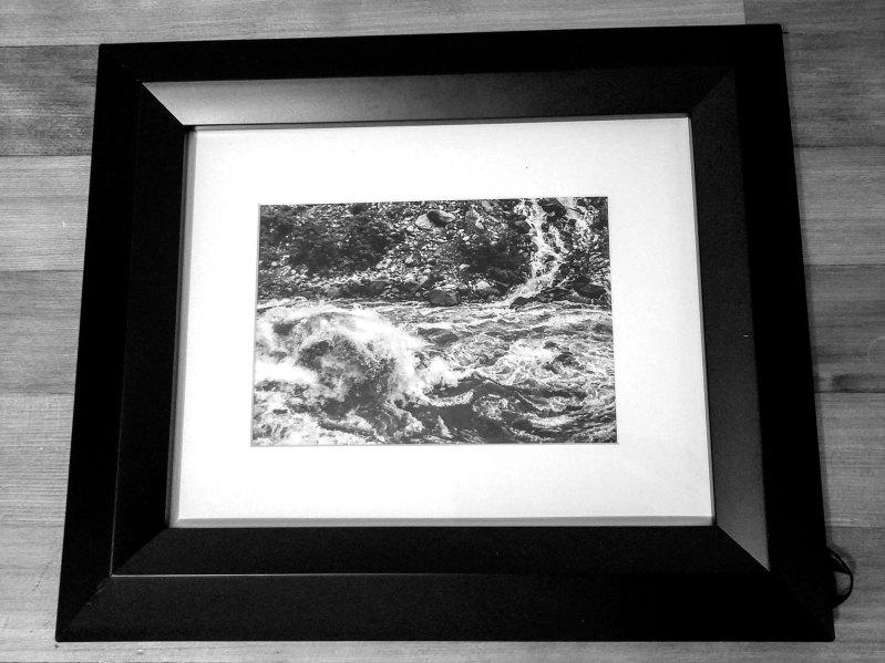 Wenatchee Fury, black & white, 5x7 print, white matte, black frame - 2016 - $50