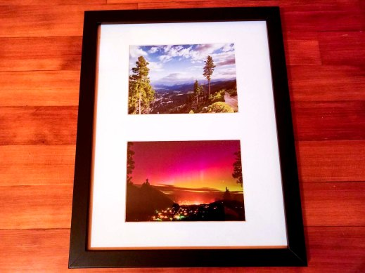 Set of 2 Views from Mtn Home, 5x7 prints, white matte, black frame - 2016-2017