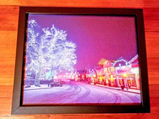 Leavenworth Lights, 8x10 print, black frame - 2017