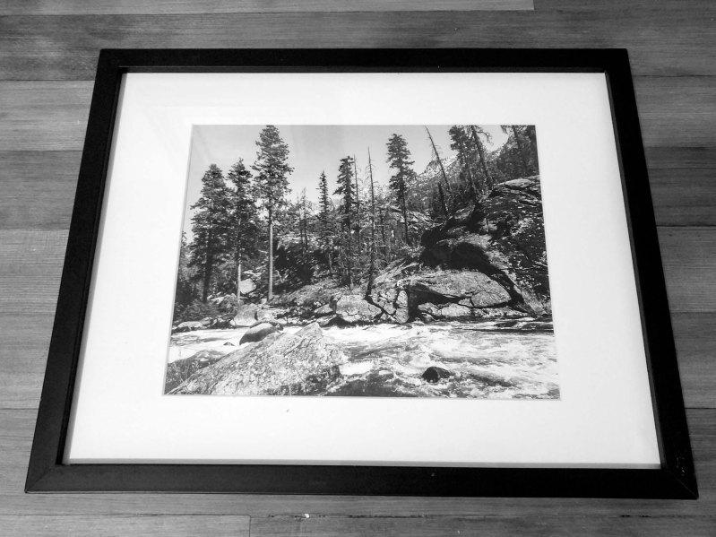 River Days, black & white, 8x10 print, white matte, black frame - 2016 - $75