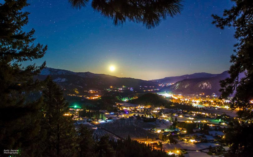 March - Full Moon over Leavenworth