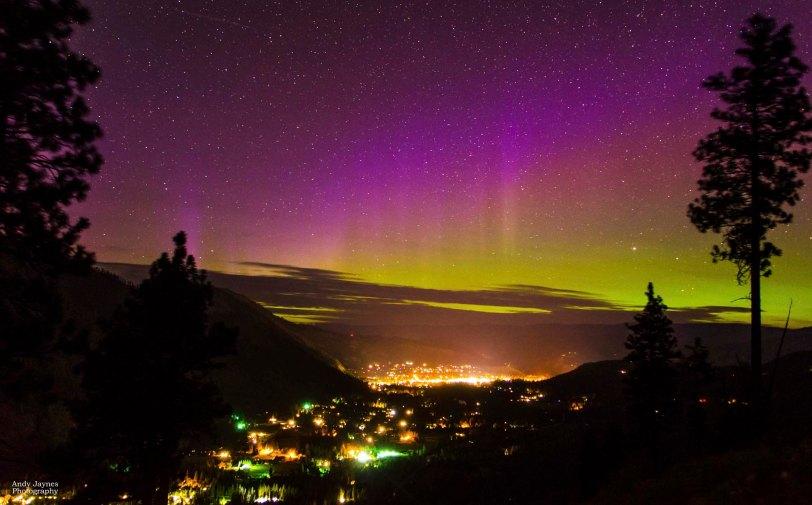June - Aurora over Leavenworth