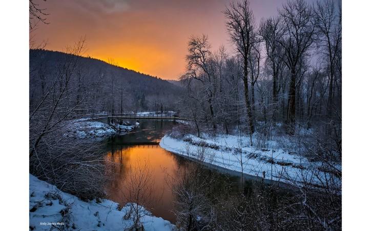 Orange Blackbird Island Sunrise 2 - Dec 2019