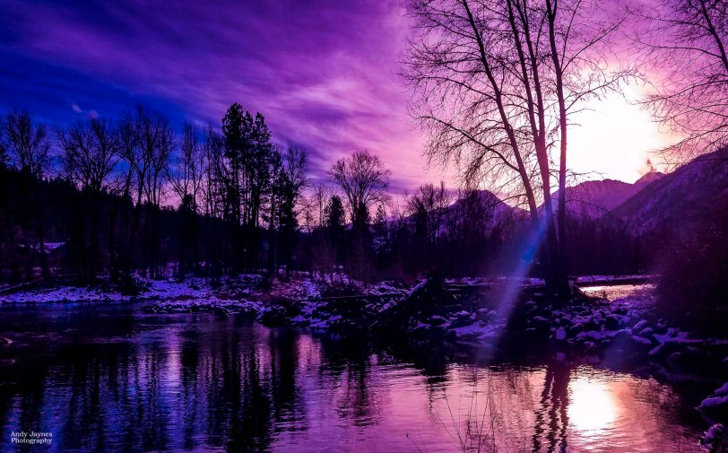 Waterfront Park purple sunset - 2018