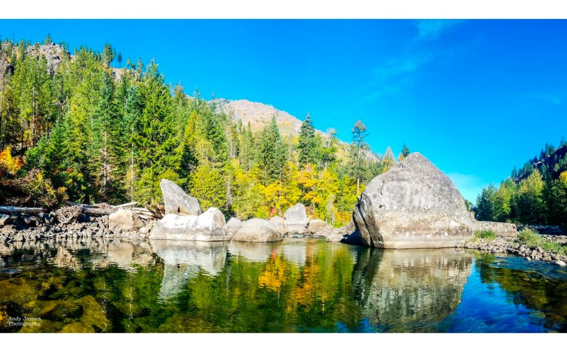 Fall Reflections on Wenatchee River - 2018