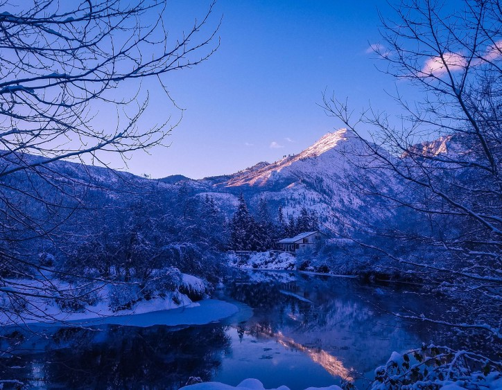 January - Icicle Creek Winter Sunrise Reflections