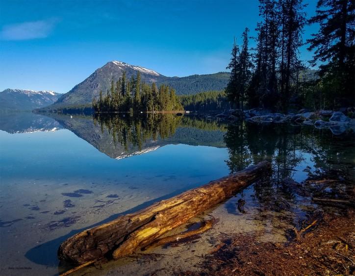 June - Lake Wenatchee Morning Light Reflections